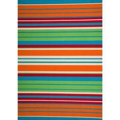 Christopher Knight Home Roxanne Lex Indoor/Outdoor Orange Multi Stripe Rug (5' x 8') (Orange), Size 5' x 8'