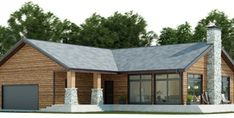 House Plan CH339 Bungalow House Plans, Barn House Plans, Cottage House Plans, New House Plans, Modern House Plans, House Floor Plans, Narrow House Plans, Three Bedroom House Plan, Building A Container Home