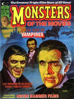 #Dracula, Blacula and Barnabus Collins. Monsters Of The Movies no 3, October 1974 #vampires