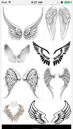 New Tattoo Designs Angel Wings Tat IdeasYou can find New tattoos and more on our website.New Tattoo Designs Angel Wings Tat Ideas Small Angel Tattoo, Angel Tattoo For Women, Tattoos For Women, Mini Tattoos, New Tattoos, Small Tattoos, Cool Tattoos, Tatoos, Skull Tatto