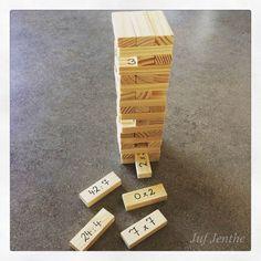 Onderwijs en zo voort ........: 2783. Tafels oefenen : Jenga : het antwoord staat ...