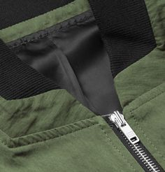 Tim Coppens - Panelled Cotton-Blend Bomber Jacket