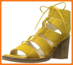 Bos. & Co. Women's Brooke Fisherman Sandal, Yellow Maize Suede Leather, 38 EU/7.5-8 M US (*Partner Link)
