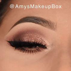 Glamorous Rose Gold Eye Makeup - A perfect make-up for special occasions . - Glamorous Rose Gold Eye Make-up – A perfect make-up for special occasions By: Amys Makeup Box – - Smoke Eye Makeup, Makeup Eye Looks, Gold Eye Makeup, Beautiful Eye Makeup, Makeup For Brown Eyes, Perfect Makeup, Eyeshadow Makeup, Face Makeup, Makeup Box