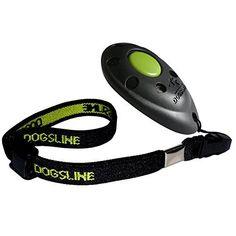 DOGSLINE Profi Clicker with Elastic Hand Strap  Clicker Training for dog cat horse  black USDL01PA *** Visit the image link more details.