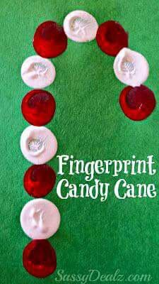 Fingerprints Candy Cane