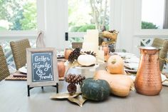 Bountiful Harvest inspired Tablescape - Fashionable Hostess | Fashionable Hostess