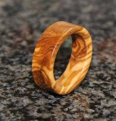 Olive wood ring
