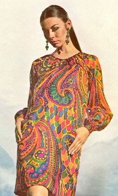 60's psychedelic paisley