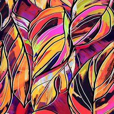 Jungle design for @patternbank » https://patternbank.com/maspram #surfacespatterns #fashion #trend #tropical #leaves #brush #handdrawn  #graphicdesign #graphic #art #drawn #allover #seamless #colorfull #floral #exotic #bright #colourful #surfacespatterns #newonpatternbank IG: @aspram_design