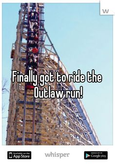 Finally got to ride the Outlaw run!