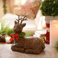 Faux Wicker Reindeer Statue | Kirklands #KirklandsHoliday