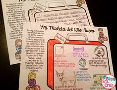 Año Nuevo - Mi Maleta Writing Activity  In this activity students will write about the Hispanic New Year's Eve tradition of running with a suitcase.
