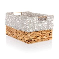 Your Way Rectangle Basket Liner - Chevron Charm