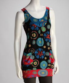 Take a look at this Multi-Colored Button Tunic by Papillon Imports on #zulily today!