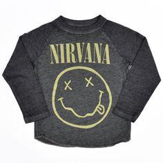 64a1a054dec0 Nirvana Raglan Baby Toddlers T-Shirt Rock Shirts