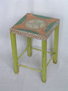 Image of table - decorated by Vanessa Bell