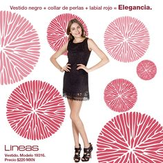 Elegancia. #Lineas #outfit #moda #tendencias #2014 #ropa #prendas #estilo #primavera #outfit #elegancia #perlas #vestidonegro