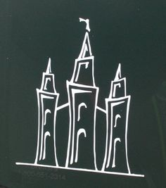Salt Lake LDS Temple vinyl sticker. Use it as a car decal, or for DIY craft projects.