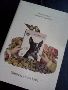 @LaurenStewartTO  Lovely, true-to-brand subscription reminder note from @uppercasemag featuring vintage art from http://www.puglypixel.com