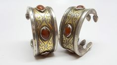 Antique 19 th century Tekke silver fire gilded by TheSterlingBead