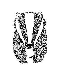 Tribal Badger Print by Tinged on Etsy