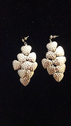 80s Bunches of Hearts Earrings