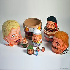 Robin Williams Tribute Nesting Dolls by Andy Stattmiller. | http://www.ifitshipitshere.com/pop-culture-nesting-dolls/
