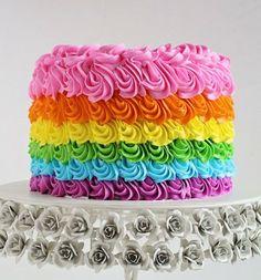 3 étapes pour préparer un Rainbow cake
