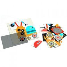 DJECO 05611Układanka magnetyczna Kinoptik - Roboty - sklep zabawkowy Kimland.pl