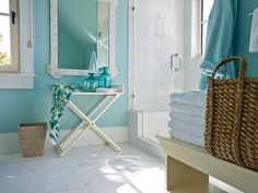 Sherwin-Williams® Watery - SW 6478  - HGTV Dream Home 2013: Twin Suite Bathroom Pictures on HGTV