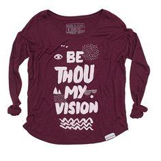 Be Thou My Vision Maroon Women's Flowy Longsleeve