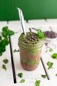 Mint Chocolate Chia Parfait | Vegan Yack Attack