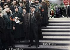 Lenin at the Parade of Vsevobuch Troops on the Red Square on 25 May 1919