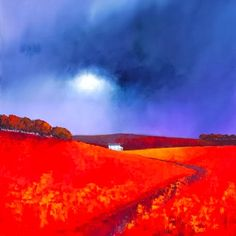Barry Hilton Barry Hilton was born in 1941 in Manchester. Whilst having no formal training, he moved . Landscape Artwork, Abstract Landscape Painting, Watercolor Landscape, Fields In Arts, Art Pictures, Photos, Learn Art, Beach Scenes, Scenery