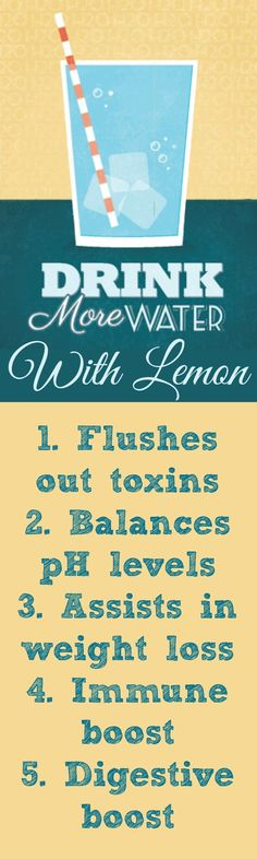 Why you should drink more lemon water #healthyliving #cleanse #detox