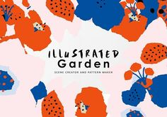 Illustrated Garden Graphics- is a graphics pack filled with patterns and elements for you to create your own individual and colourful designs and artwork. by Emma Make #prints