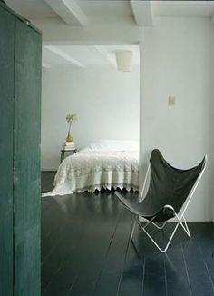 Painted Black Floor by Julie Carlson