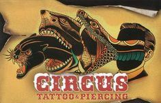 Deno Circus Tattoo Business Card | tattoos picture tattoo business cards