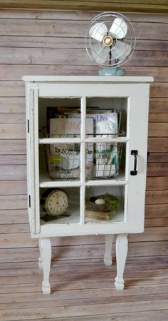 Do you have an old window and some extra lumber lying around? Make this cabinet that is full of character and charm! Target Inspired Old Window Cabinet. mycreativedays.com