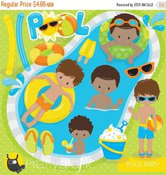 80 % OFF SALE Pool Partei jungen Clipart von Prettygrafikdesign