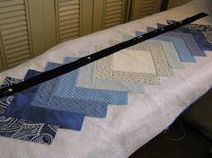 Idaho Quilter: Quilt As You Go, table runner tutorial