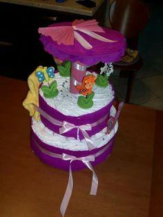 Diapers cakes giostrina torta di pannolini
