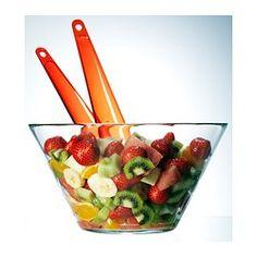 TRYGG Serving bowl, clear glass - $2.49 IKEA