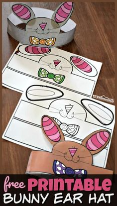 FREE Printable Bunny Ear Hat - this LOW PREP Easter Craft for Preschoolers make a fun spring activity for toddler, preschool, kindergarten age kids and more! Hat Crafts, Bunny Crafts, Easter Crafts, Spring Art Projects, Spring Crafts, Projects For Kids, Toddler Crafts, Preschool Crafts, Toddler Preschool