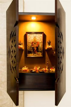 wall mounted pooja mandir designs Google Search Projects to
