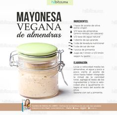 Ingredients and Directions For Homemade Mayonnaise Dairy Free Recipes, Raw Food Recipes, Veggie Recipes, Cooking Recipes, Healthy Recipes, Vegan Foods, Vegan Vegetarian, Vegetarian Recipes, Homemade Mayonnaise