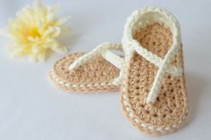 Baby girl crocheted sandals   https://www.etsy.com/listing/229863294/summery-crocheted-baby-sandals-baby-girl