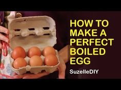 You think to boil an egg is very easy but we all know it is quite tricky! Maybe it's too runny, maybe it's too hard! Well I know a trick that will make Banting Breakfast, Perfect Boiled Egg, Breakfast At Tiffanys, Boiled Eggs, Preserves, The Creator, Frozen, Diy Projects, Snacks