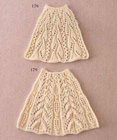 Узоры с расширением для свитера, юбочки или платья.